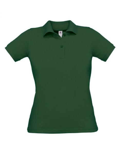 Safran Poloshirt Frauen Bottle Green