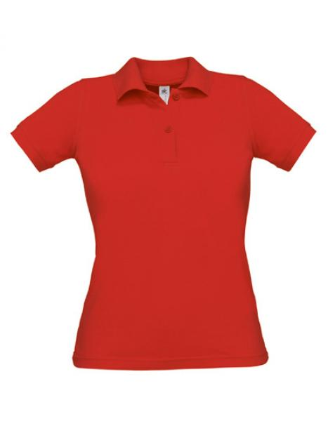 Safran Poloshirt Frauen Red