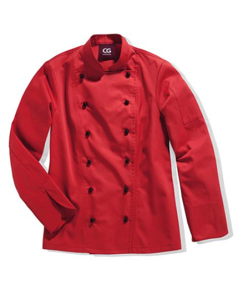 CG Workwear Kochjacke Rimini Lady Red