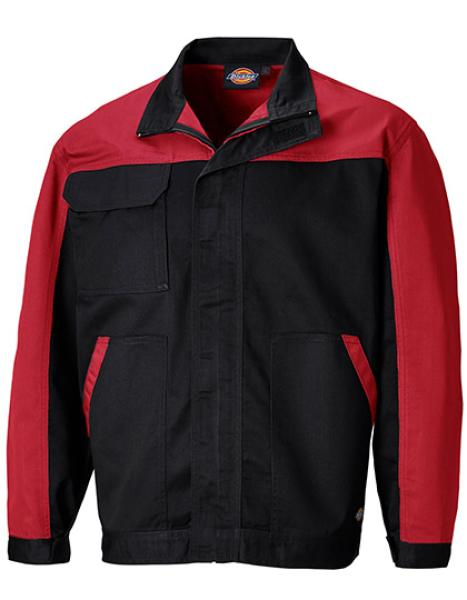 Dickies Everyday Bundjacke - Schwarz / Rot