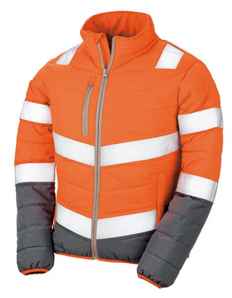 Result - Mens Soft Padded Jacket Orange