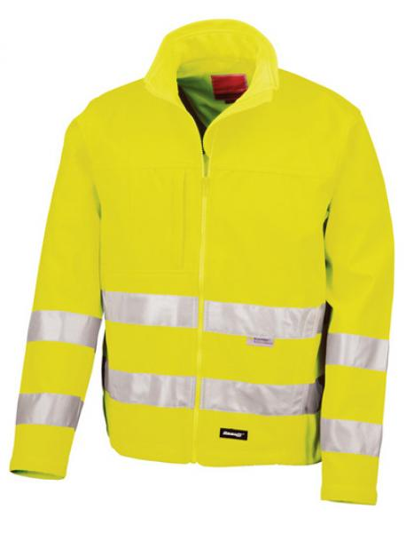 Result High-Viz Soft Shell Jacket Yellow