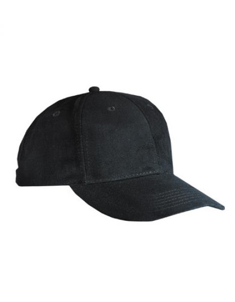 MyrtleBeach - 6-Panel Cap laminiert Black