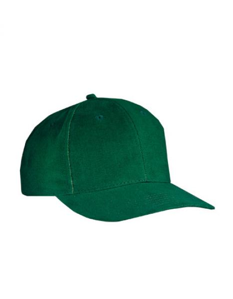 MyrtleBeach - 6-Panel Cap laminiert Dark Green