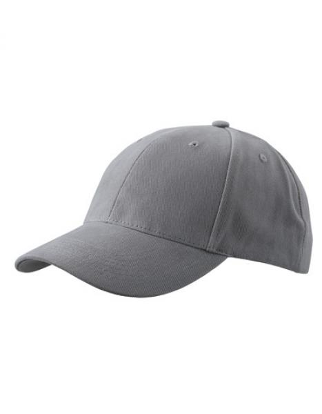 MyrtleBeach - 6-Panel Cap laminiert Dark Grey