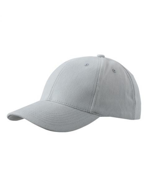 MyrtleBeach - 6-Panel Cap laminiert Light Grey