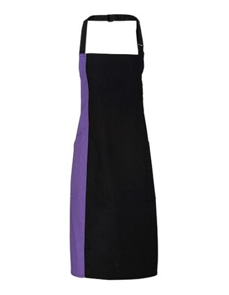 Premier Workwear Contrast Bib Apron Black/Purple
