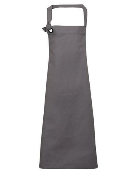 Premier Workwear Calibre Heavy Cotton Canvas Bib Apron Dark Grey