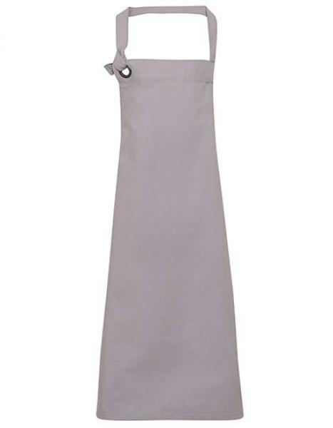 Premier Workwear Calibre Heavy Cotton Canvas Bib Apron Silver