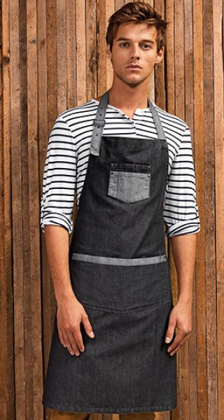 Premier Workwear Domain Contrast Denim Bib Apron