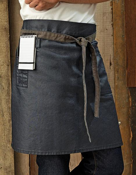 Premier Workwear Division Waxed Look Denim Waist Apron
