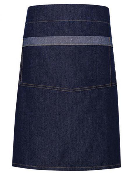 Premier Workwear Domain Contrast Denim Waist Apron Indigo Denim