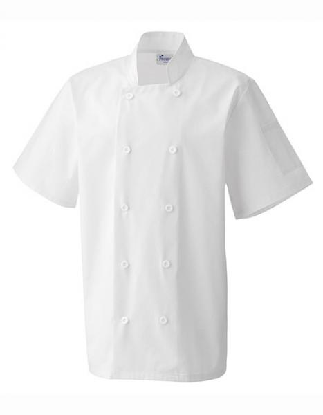 Essential Short Sleeve Chef´s Jacket White