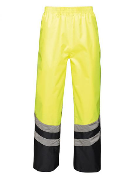 Regatta - Hi-Vis Pro Over Trousers Yellow Navy