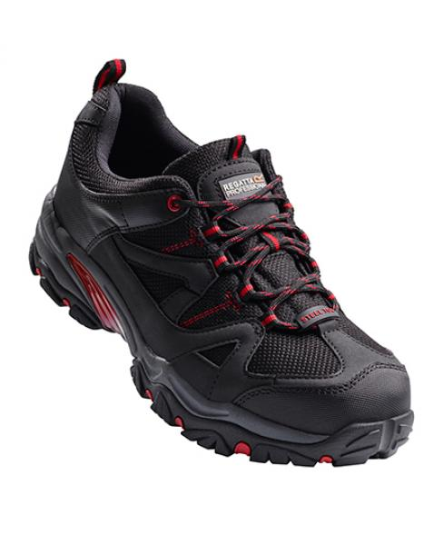Regatta Riverbeck S1P Safety Trainer Black/Red