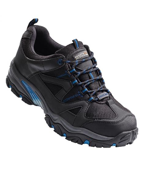 Regatta Riverbeck S1P Safety Trainer  Black/Oxford Blue