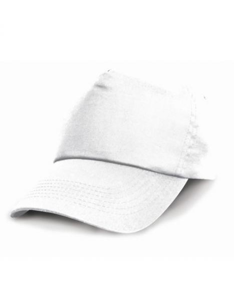 Result Headwear - Junior Cotton Cap - White