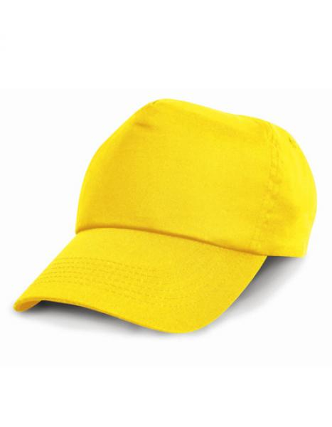 Result Headwear - Junior Cotton Cap - Yellow