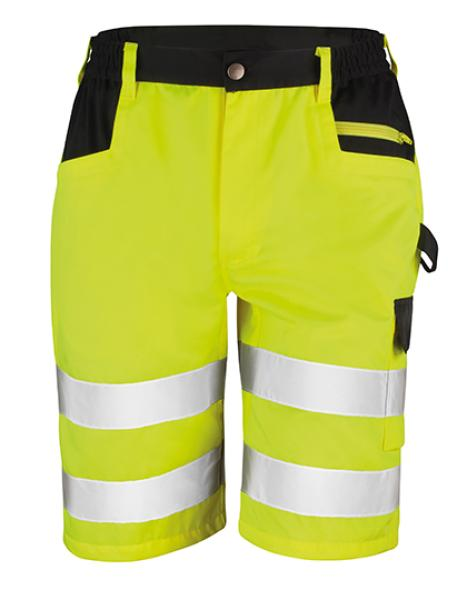 Result - Safety Cargo Shorts Fluorescent Yellow