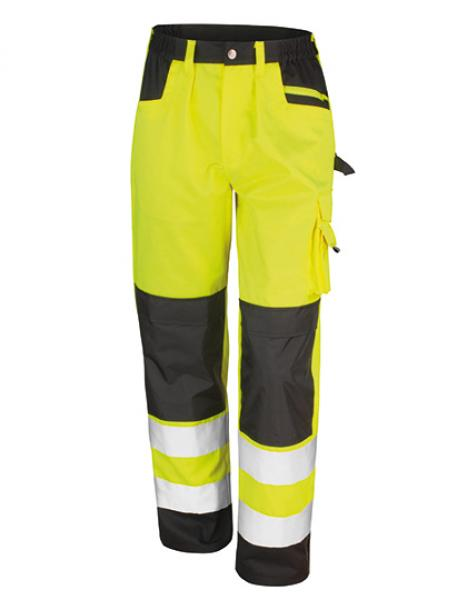 Result - Safety Cargo Trouser Fluorescent Yellow