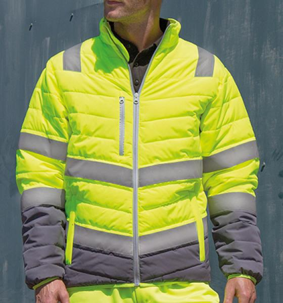 Result - Mens Soft Padded Safety Jacket
