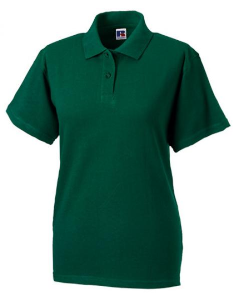 Russell Ladies Classic Cotton Polo Bottle Green