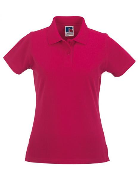 Russell Ladies Classic Cotton Polo Fuchsia