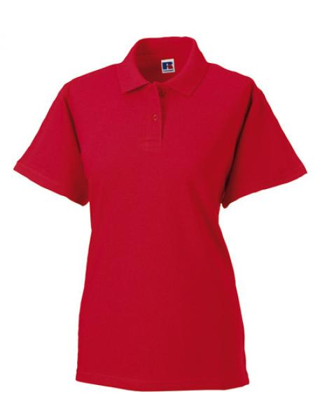 Russell Ladies Classic Cotton Polo Red