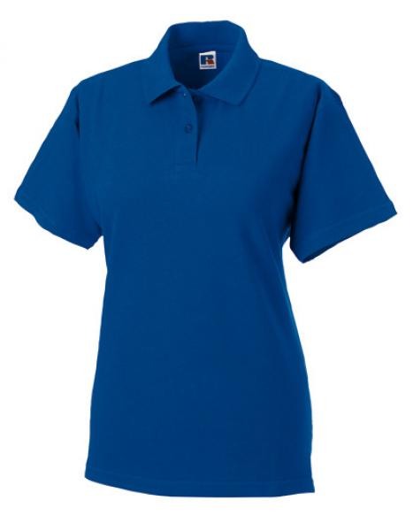 Russell Ladies Classic Cotton Polo Royal Blue