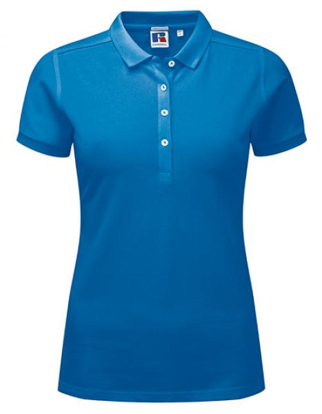 Russell Ladies Stretch Polo Azure