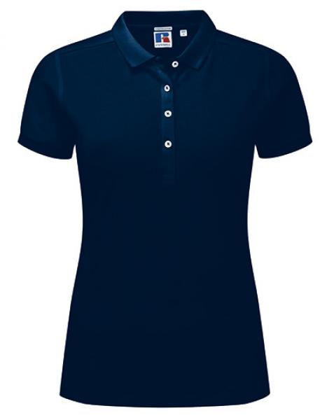 Russell Ladies Stretch Polo Navy
