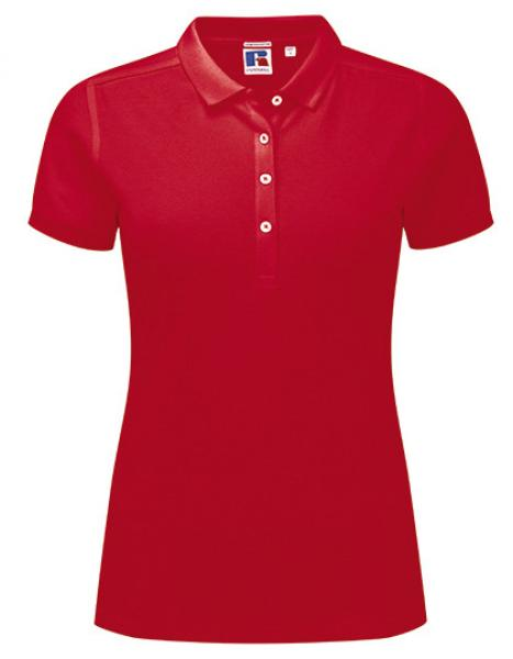 Russell Ladies Stretch Polo Red
