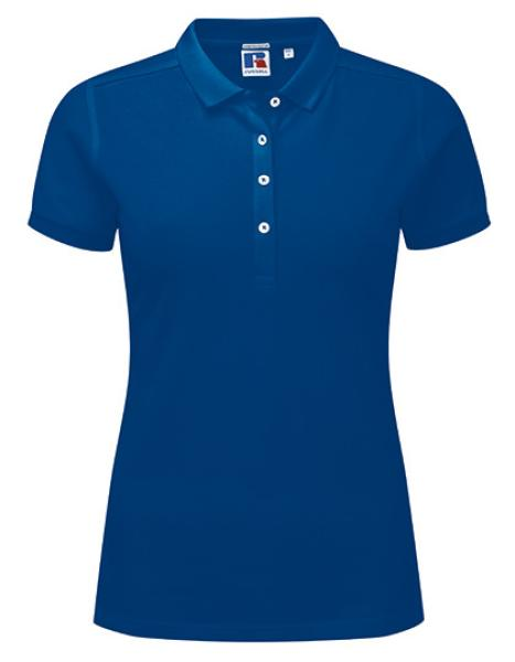 Russell Ladies Stretch Polo Royal Blue