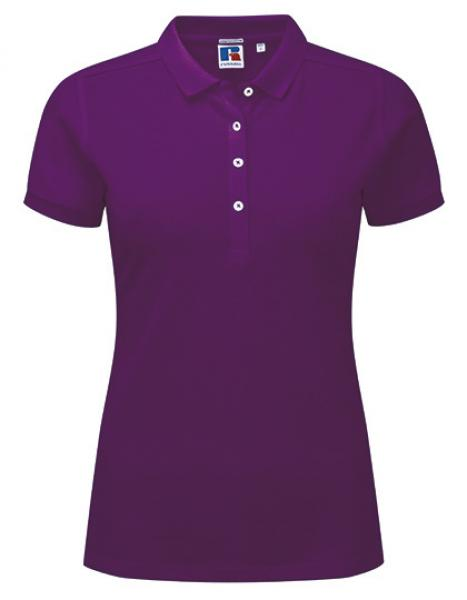 Russell Ladies Stretch Polo Ultra Purple
