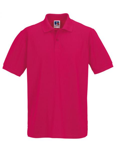 Russell Mens Classic Cotton Polo Fuchsia