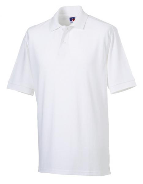 Russell Mens Classic Cotton Polo White