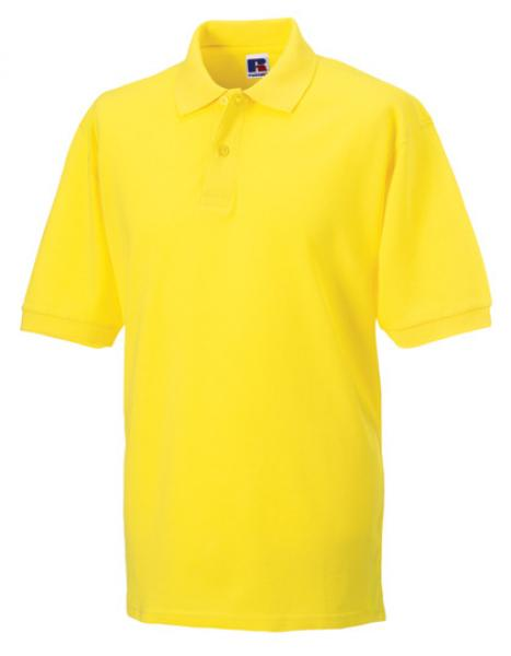 Russell Mens Classic Cotton Polo Yellow