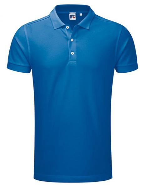 Russell Mens Stretch Polo Azure