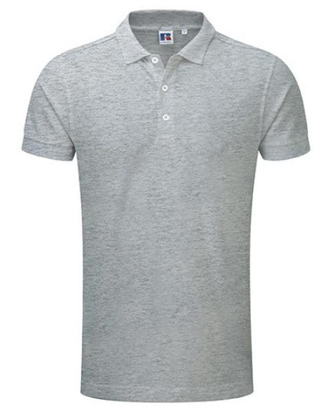 Russell Mens Stretch Polo Light Oxford