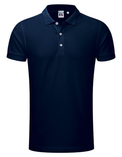 Russell Mens Stretch Polo Navy