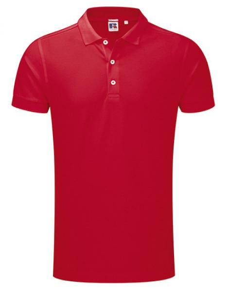 Russell Mens Stretch Polo Red