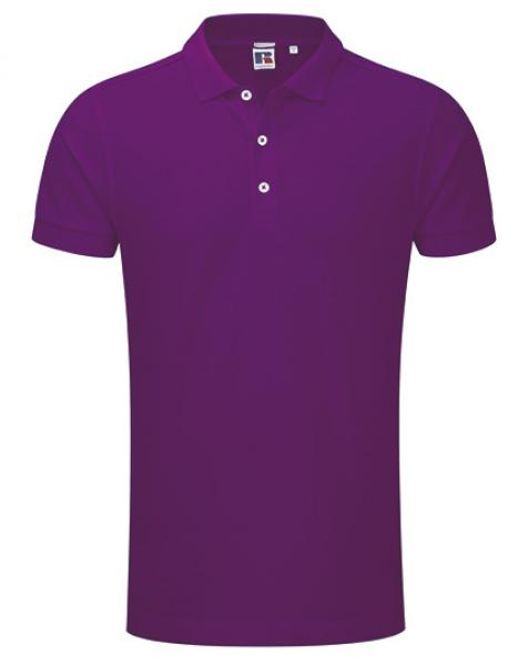 Russell Mens Stretch Polo Ultra Purple