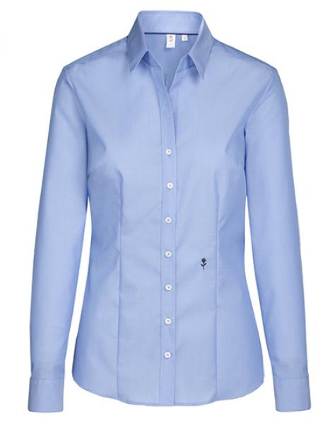 Seidensticker Womens Blouse Slim Fit Longsleeve Mid Blue