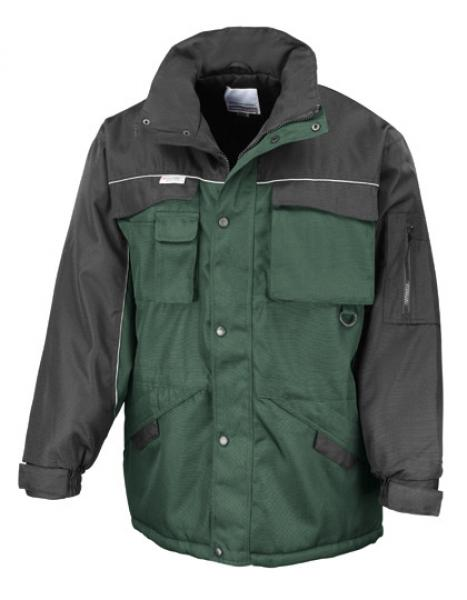 Result WORK-GUARD - Workguard Heavy Duty Combo Coat Bottlegreen Black