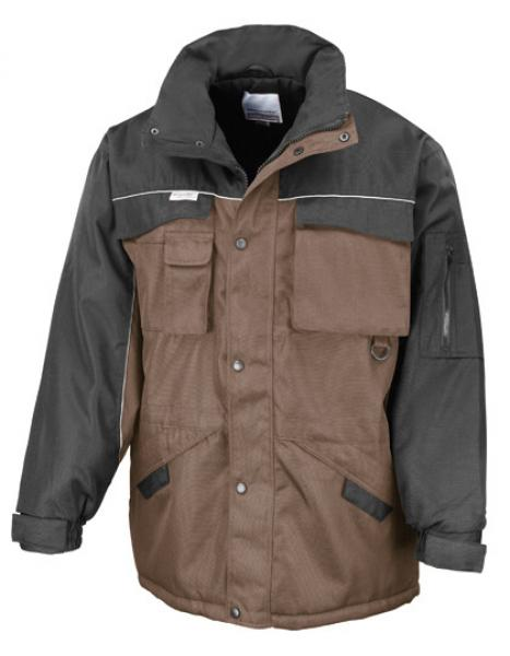 Result WORK-GUARD - Workguard Heavy Duty Combo Coat Tan Black